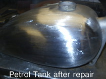 Petrol Tank after repair