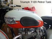 cw classic Triumph T120 Petrol Tank