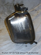 cw classic Triumph GP Oil Tank without Float Chamber